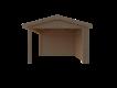 DWF Blokhut met overkapping zadeldak 400 x 350 + 300cm