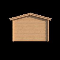 DWF Blokhut met overkapping zadeldak 400 x 350 + 350cm