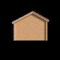 DWF Blokhut met overkapping Kapschuur dak 250 x 350 + 350cm
