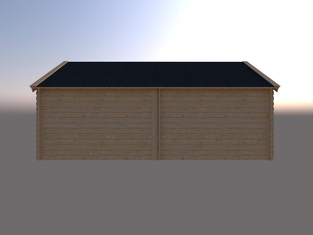DWF Blokhut met overkapping Kapschuur dak 300 x 350 + 300cm