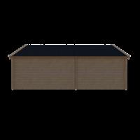DWF Blokhut met overkapping Kapschuur dak 300 x 350 + 350cm