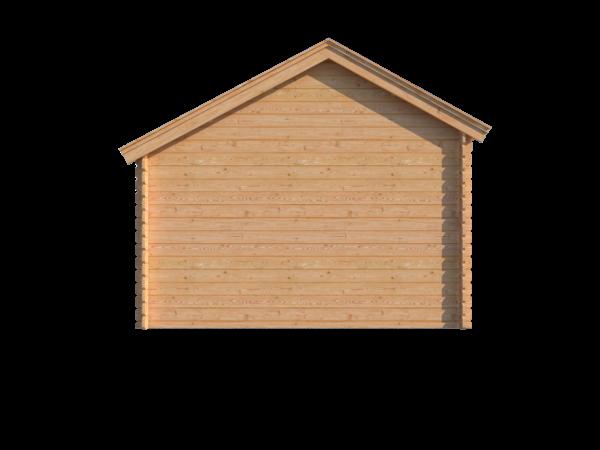 DWF Blokhut met overkapping Kapschuur dak 350 x 350 + 250cm
