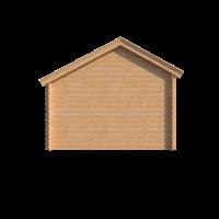 DWF Blokhut met overkapping Kapschuur dak 400 x 350 + 250cm