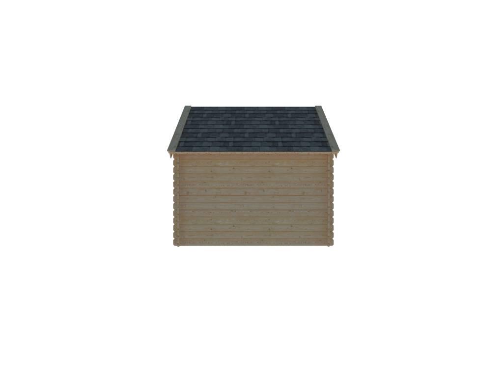 DWF Houten overkapping Kapschuur dak 300 x 250cm
