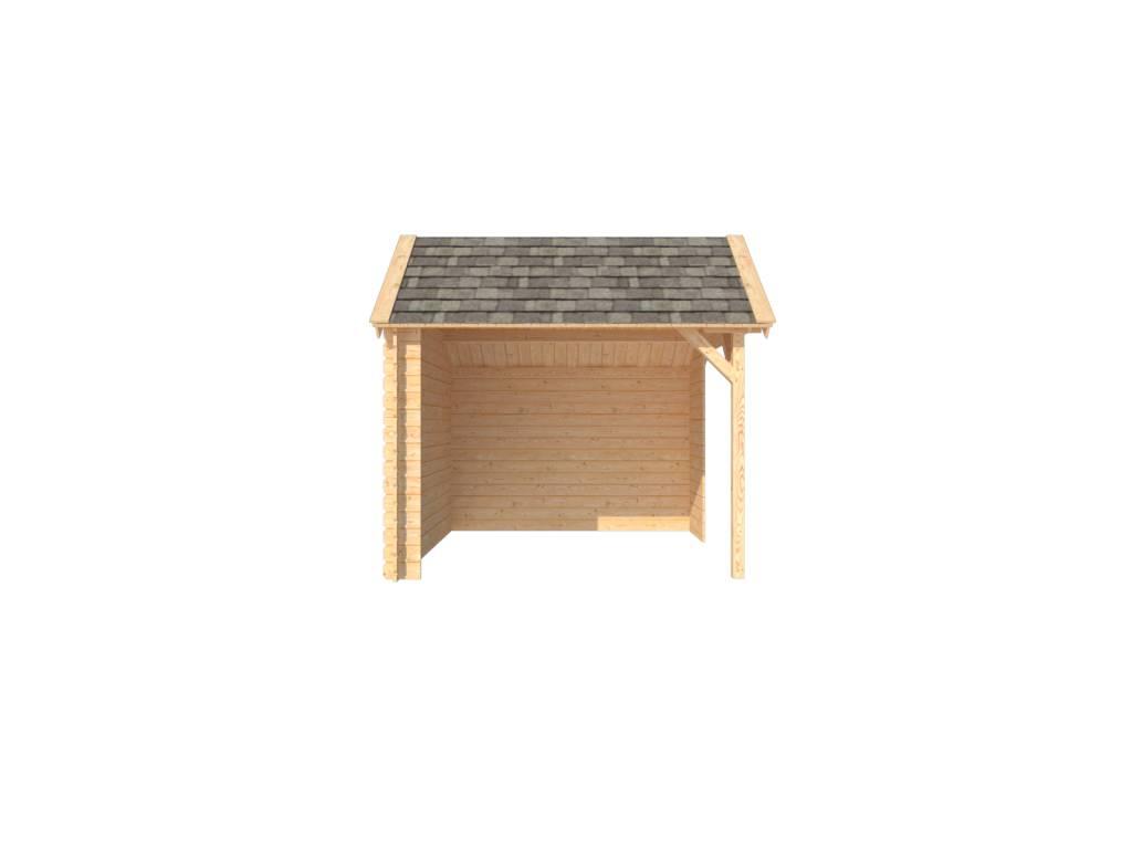 DWF Houten overkapping Kapschuur dak 300 x 300cm