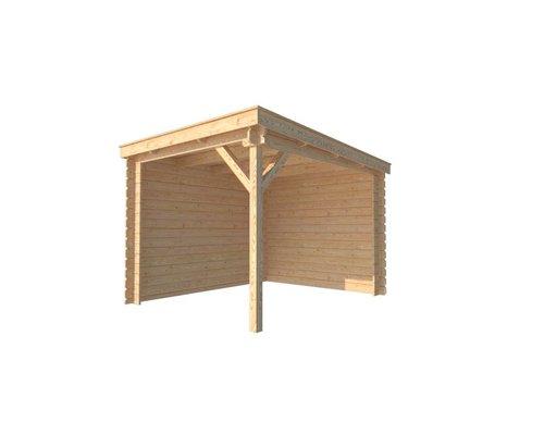 DWF Houten overkapping lessenaars dak 250 x 300cm