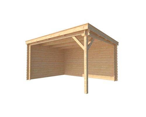DWF Houten overkapping lessenaars dak 400 x 300cm