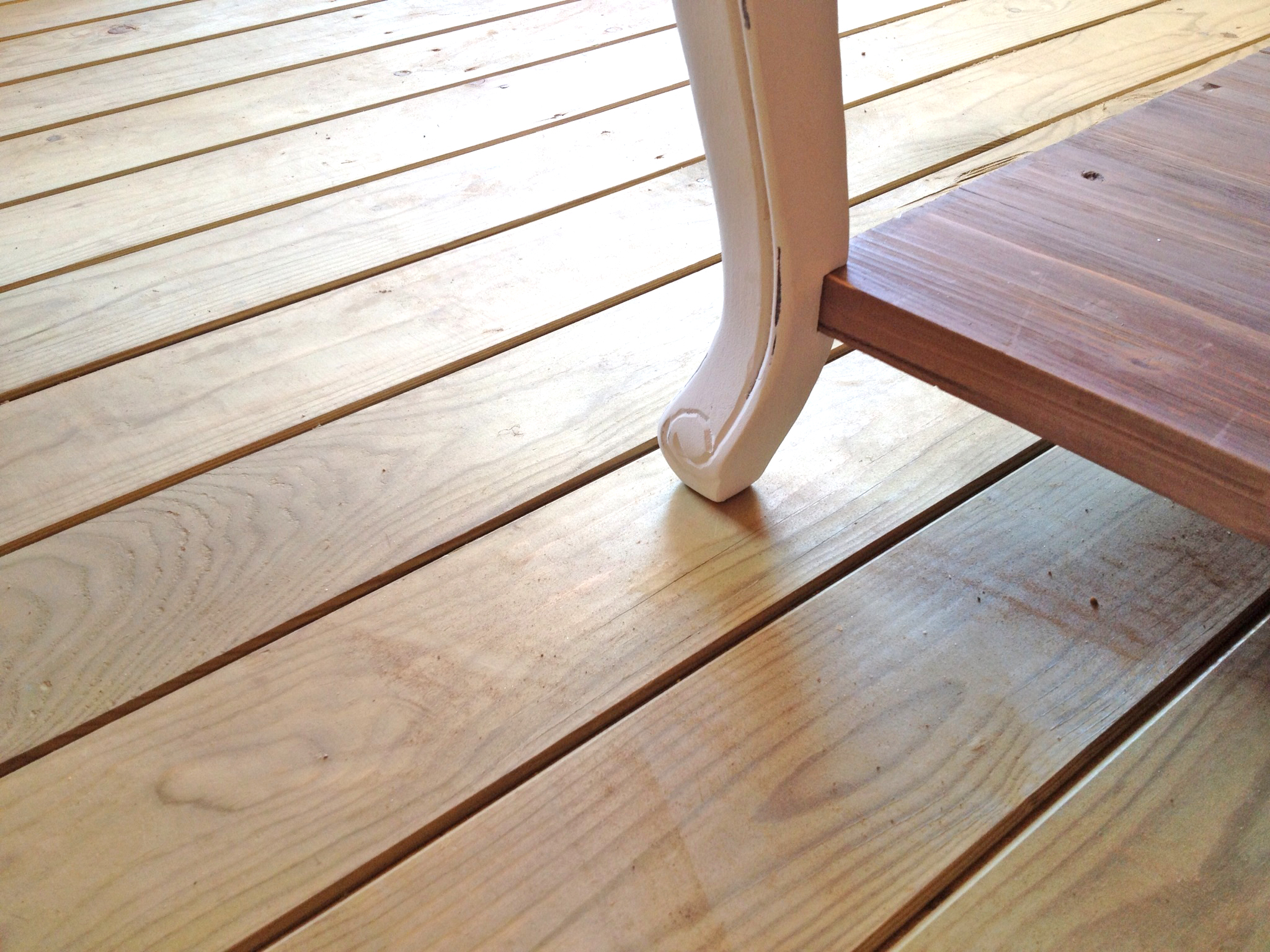 18mm houten vloerpakket geïmpregneerd incl. regelwerk (t.b.v. blokhut)