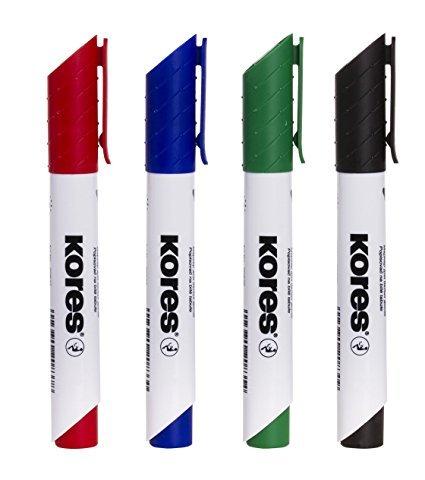 KORES Whiteboard Marker 4 Farben - Set