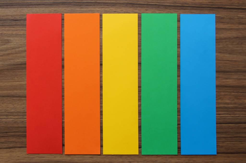 "Datamondial ""die Dicken"" Moderationskarten Rechteck  5x20cm, 250 Stück,  Bunt intensiv"