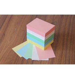 """Datamondial """"die Dicken"""" Karteikarten  A7, 500 Stück,  Bunt pastell"""