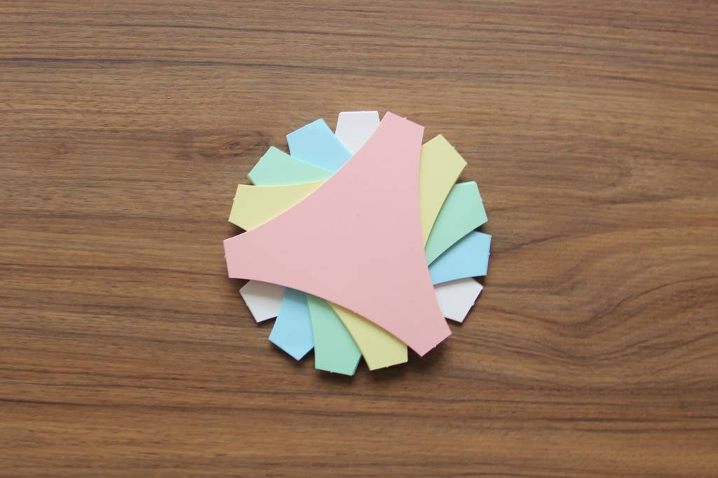 """Datamondial """"die Dicken"""" Connector Moderationskarten,  50 Stück,  Bunt pastell"""
