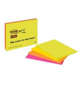 Post-it Meeting Notes - 4 Farben je 45 Blatt - 203 x 152 mm