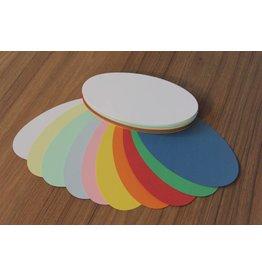 """""""die Dicken"""" by Datamondial UG """"die Dicken"""" Moderationskarten oval, 11x20cm, 100 Stück, Farben pastell & intensiv - Copy"""