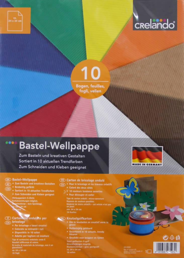 Crelando Bastel Wellpappe