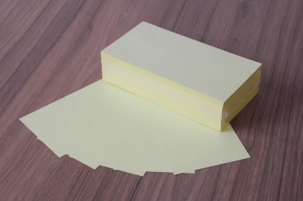 """Datamondial """"die Dicken"""" Moderationskarten Rechteck  10x20cm, 250 Stück, Farbe pastellgelb"""