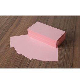 "Datamondial ""die Dicken"" Moderationskarten Rechteck  10x20cm, 250 Stück, Farbe  rosa"