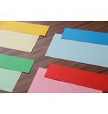 """Datamondial """"die Dicken"""" Moderationskarten Rechteck  4x20cm oder 5x20cm, 100 Stück,  intensiv Rot"""
