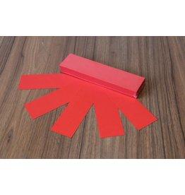 """Datamondial """"die Dicken"""" Moderationskarten Rechteck  4x20cm oder 5x20cm, 100 Stück,  Rot intensiv"""