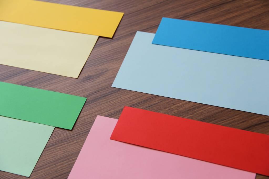 "Datamondial ""die Dicken"" Moderationskarten Rechteck  4x20cm oder 5x20cm, 100 Stück,  Pastellrosa"