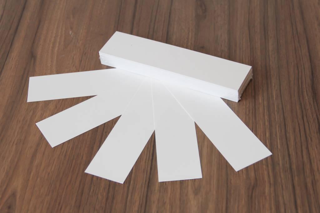"""Datamondial """"die Dicken"""" Moderationskarten Rechteck  4x20cm oder 5x20cm, 100 Stück,  Weiß"""