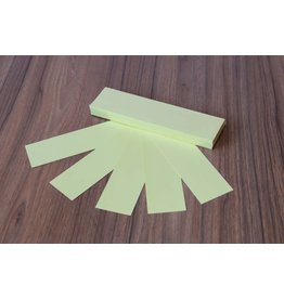 """Datamondial """"die Dicken"""" Moderationskarten Rechteck  4x20cm oder 5x20cm, 100 Stück,  Pastellgelb"""