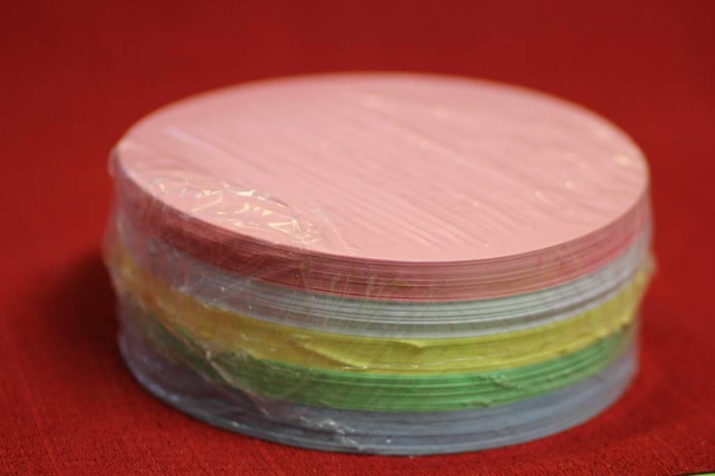 """""""die Dicken"""" by Datamondial UG """"die Dicken"""" Moderationskarten Kreis Ø 14cm, 250 Stück, Pastellfarben"""