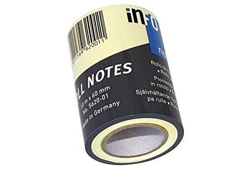 GlobalNotes Roll Notes - Notizzettel Nachfüll-Rolle - 60 mm breit - Gelb (10m)