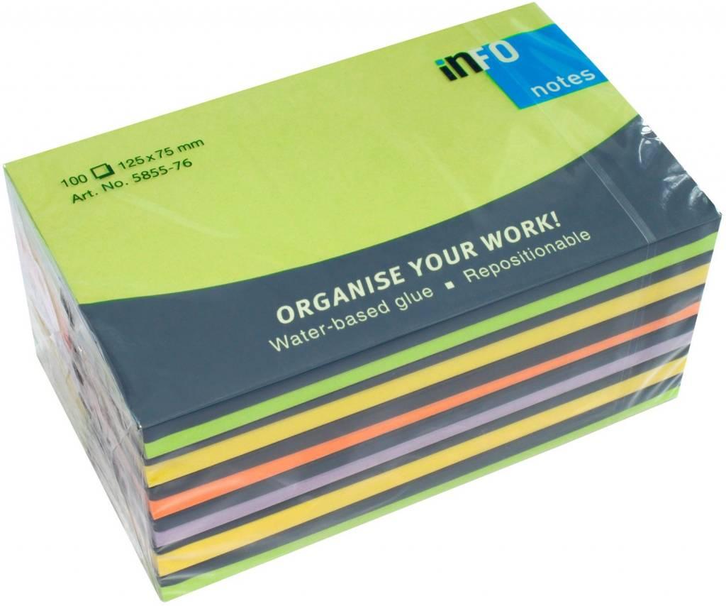 GlobalNotes Haftnotiz Spring-Mix 6er Pack je 100 Blatt - 125X75mm