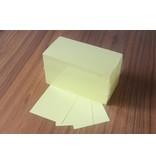 """""""die Dicken"""" by Datamondial UG """"die Dicken"""" Moderationskarten Rechteck 10x20cm, 500 Stück, Farbe  pastellgelb"""