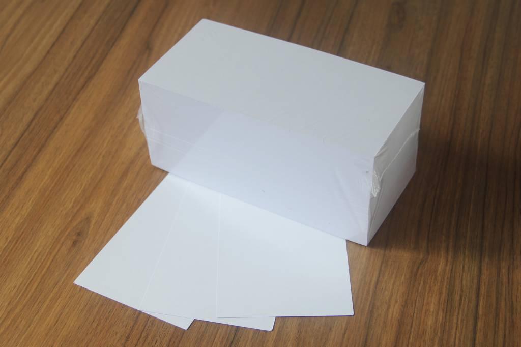 """""""die Dicken"""" by Datamondial UG """"die Dicken"""" Moderationskarten Rechteck 10x20cm, 500 Stück, Farbe weiß"""