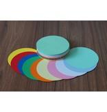 """""""die Dicken"""" by Datamondial UG """"die Dicken"""" Moderationskarten Kreis Ø 14cm, 100 Stück, Farben pastell & intensiv"""