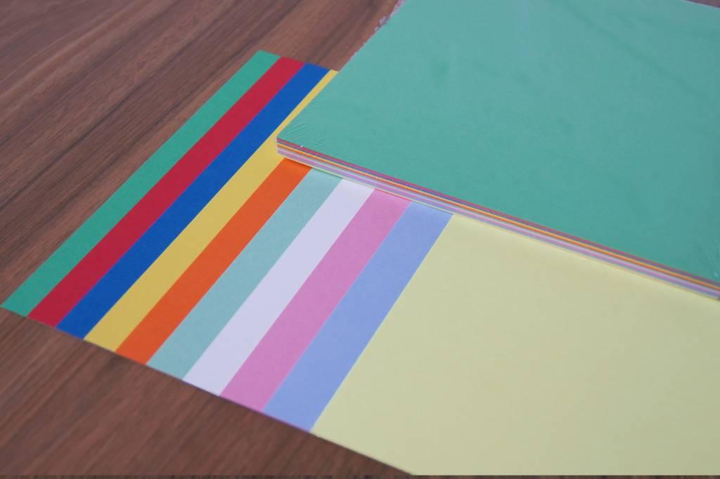 """""""die Dicken"""" by Datamondial UG """"die Dicken"""" Moderationskarten quadratisch 20x20cm, 50 Stück, Farben pastell & intensiv"""