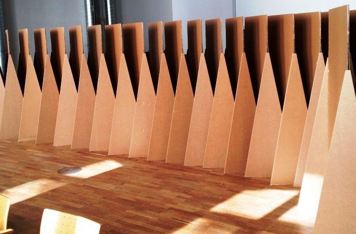 Umweltfreundliche Moderationstafel aus Pappe