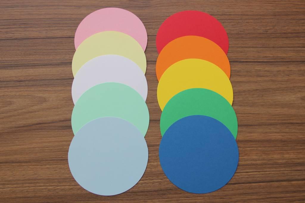"""""""die Dicken"""" by Datamondial UG """"die Dicken"""" Moderationskarten Kreis Ø 10cm, 250 Stück, Farbe weiß"""