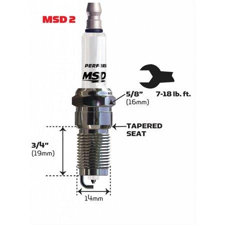 MSD ignition 2IR5L Spark Plug, 4 Per Package