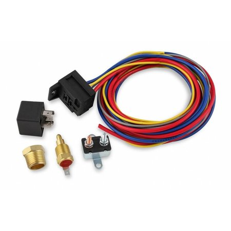 MSD ignition Electric Fan Harness & Relay Kit, 180 Degree, 30A