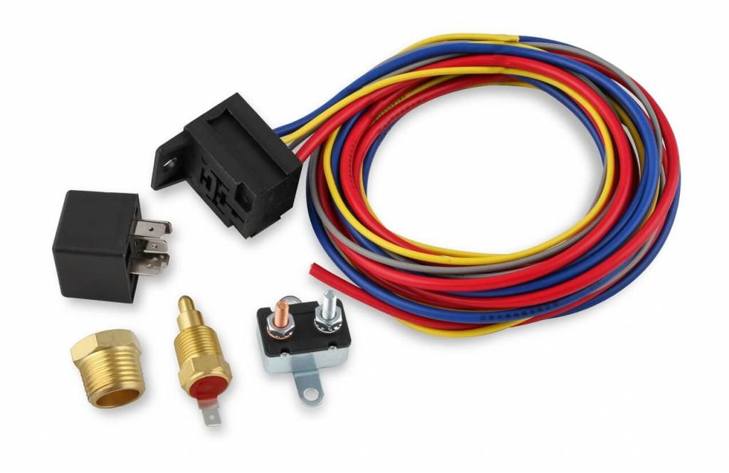 Electric Fan Harness & Relay Kit, 195 Degree, 30A on