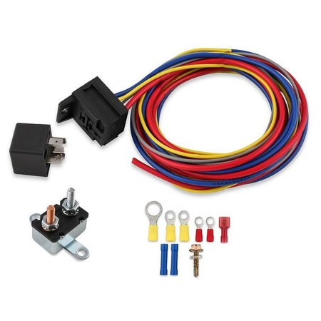 MSD ignition Electric Fan Harness & Relay Kit, Manual, 30A
