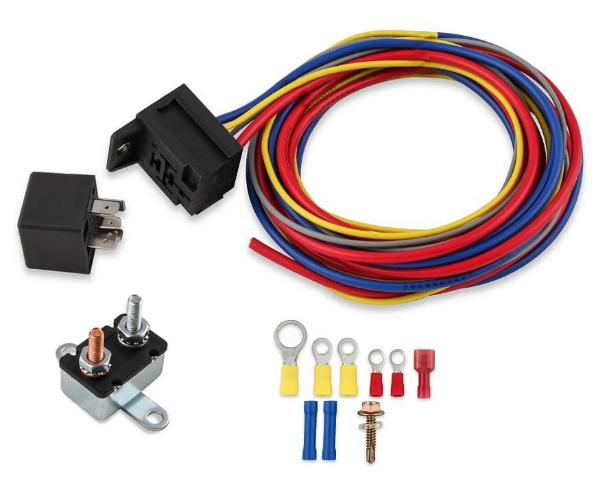 Electric Fuel Pump Harness & Relay Kit 30A on