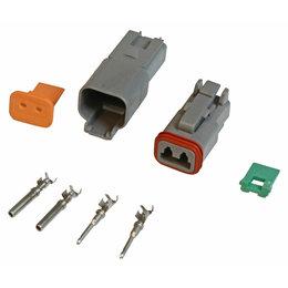 MSD Ignition Stekker Deutsch, 2-pins connector montage