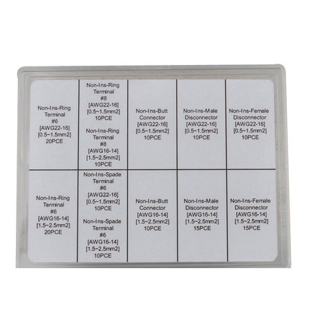 MSD ignition Non-Insulated Terminal Assortment Kits