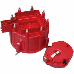 MSD ignition Distributor Cap and Rotor, GM HEI Distributor, Red