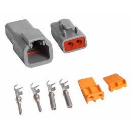 MSD Ignition Connector, Deutsch, 2-Pin, 12 Gauge High Current