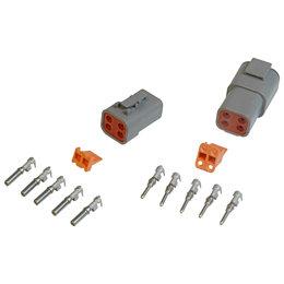 MSD Ignition Stekker Deutsch, 4-pins connector montage, 12-14 Gauge