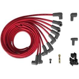 MSD Ignition Bougiekabelset Universeel V8 90°Plug/ 90° Plug Super Conductor Rood