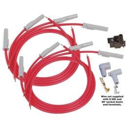 MSD Ignition Zündkabelsatz Universal V8 Multi-Angle Plug, Socket/HEI Super conductor Rot