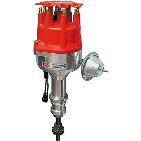 MSD Ignition Distributor Ford 289-302 with Vacuum Advance, Pro-Billet