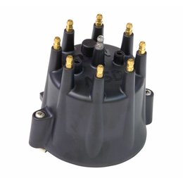 MSD ignition Distributor Cap, MSD Style, Black Chevy V8, HEI, Retainer