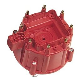 MSD Ignition Distributor Cap, GM HEI, Clip Down Red